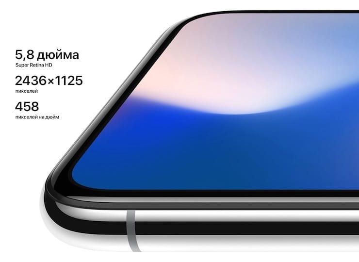 iPhone x дисплей